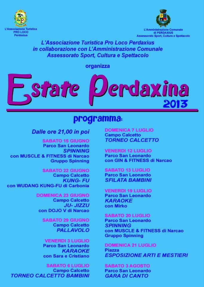 San Leonardo Calendario.Calendario Eventi Perdaxius
